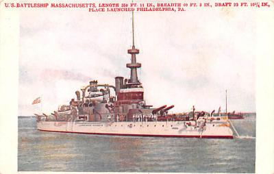 mil051633 - Military Battleship Postcard, Old Vintage Antique Military Ship Post Card