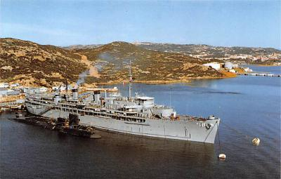 mil051635 - Military Battleship Postcard, Old Vintage Antique Military Ship Post Card