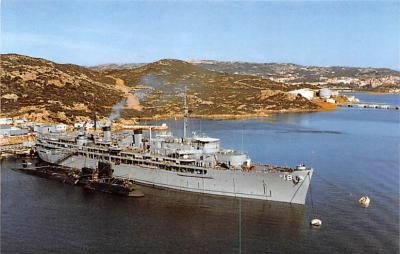 mil051636 - Military Battleship Postcard, Old Vintage Antique Military Ship Post Card