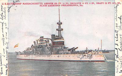 mil051662 - Military Battleship Postcard, Old Vintage Antique Military Ship Post Card