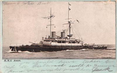 mil051688 - Military Battleship Postcard, Old Vintage Antique Military Ship Post Card