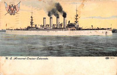 mil051696 - Military Battleship Postcard, Old Vintage Antique Military Ship Post Card