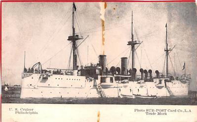 mil051698 - Military Battleship Postcard, Old Vintage Antique Military Ship Post Card