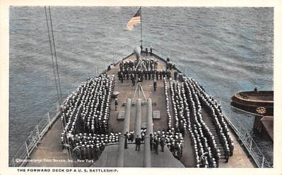 mil051702 - Military Battleship Postcard, Old Vintage Antique Military Ship Post Card