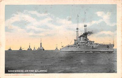 mil051707 - Military Battleship Postcard, Old Vintage Antique Military Ship Post Card