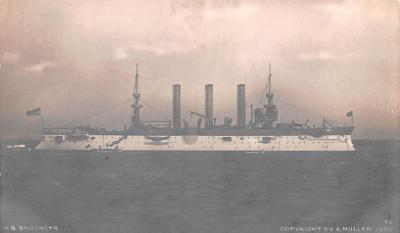 mil051735 - Military Battleship Postcard, Old Vintage Antique Military Ship Post Card