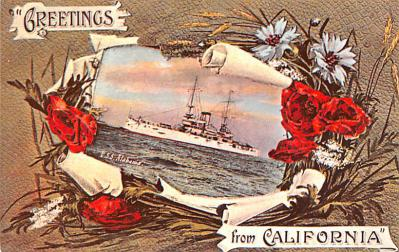 mil051748 - Military Battleship Postcard, Old Vintage Antique Military Ship Post Card