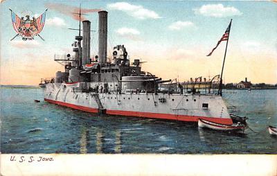 mil051770 - Military Battleship Postcard, Old Vintage Antique Military Ship Post Card