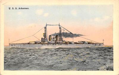 mil051771 - Military Battleship Postcard, Old Vintage Antique Military Ship Post Card