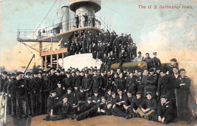 mil051773 - Military Battleship Postcard, Old Vintage Antique Military Ship Post Card
