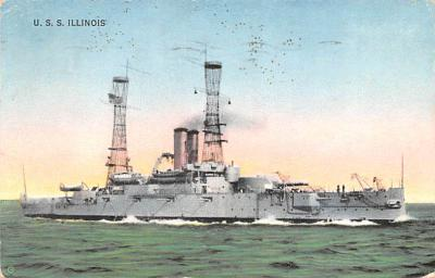 mil051881 - Military Battleship Postcard, Old Vintage Antique Military Ship Post Card