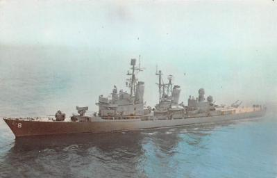 mil051886 - Military Battleship Postcard, Old Vintage Antique Military Ship Post Card