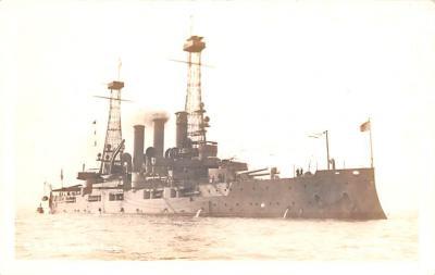 mil051902 - Military Battleship Postcard, Old Vintage Antique Military Ship Post Card