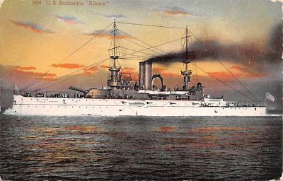 mil051923 - Military Battleship Postcard, Old Vintage Antique Military Ship Post Card