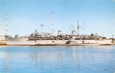 mil051933 - Military Battleship Postcard, Old Vintage Antique Military Ship Post Card