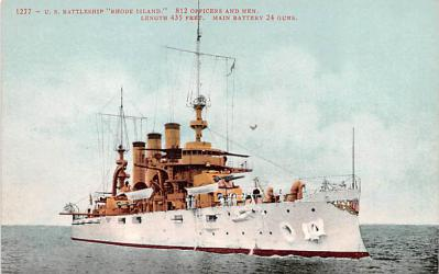 mil051961 - Military Battleship Postcard, Old Vintage Antique Military Ship Post Card