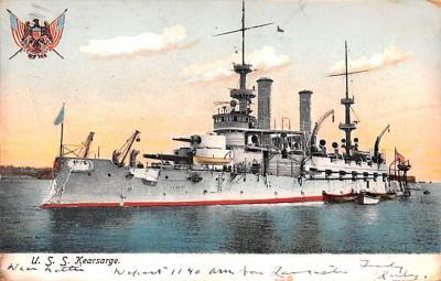 mil051965 - Military Battleship Postcard, Old Vintage Antique Military Ship Post Card