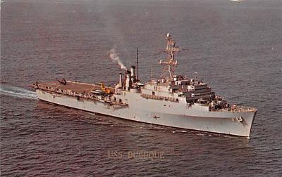 mil051974 - Military Battleship Postcard, Old Vintage Antique Military Ship Post Card