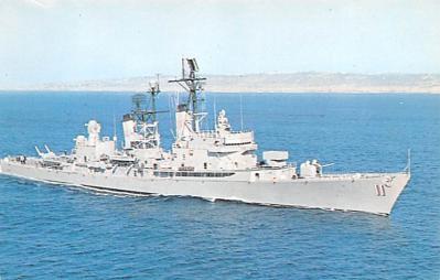 mil051988 - Military Battleship Postcard, Old Vintage Antique Military Ship Post Card