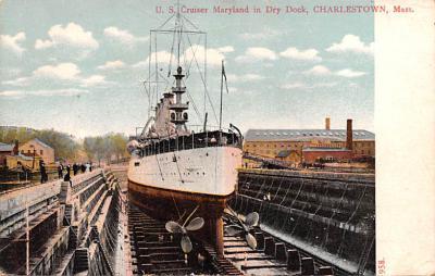 mil051991 - Military Battleship Postcard, Old Vintage Antique Military Ship Post Card