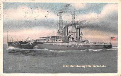 mil052033 - Military Battleship Postcard, Old Vintage Antique Military Ship Post Card