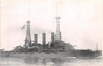 mil052058 - Military Battleship Postcard, Old Vintage Antique Military Ship Post Card