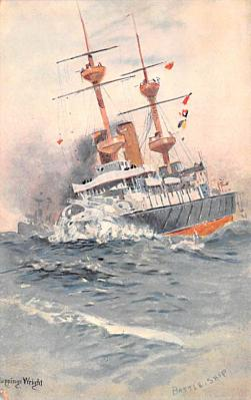 mil052062 - Military Battleship Postcard, Old Vintage Antique Military Ship Post Card