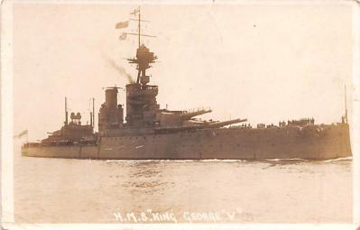 mil052068 - Military Battleship Postcard, Old Vintage Antique Military Ship Post Card