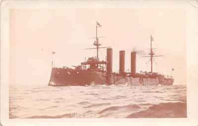 mil052070 - Military Battleship Postcard, Old Vintage Antique Military Ship Post Card