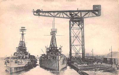 mil052072 - Military Battleship Postcard, Old Vintage Antique Military Ship Post Card