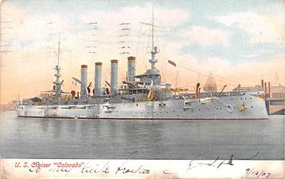 mil052082 - Military Battleship Postcard, Old Vintage Antique Military Ship Post Card