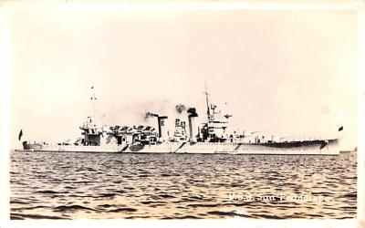 mil052083 - Military Battleship Postcard, Old Vintage Antique Military Ship Post Card