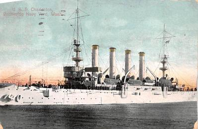 mil052089 - Military Battleship Postcard, Old Vintage Antique Military Ship Post Card