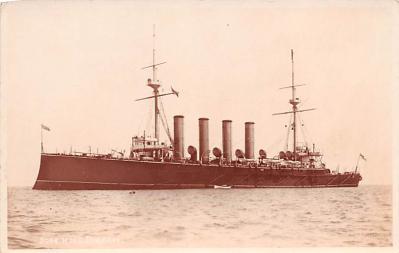 mil052096 - Military Battleship Postcard, Old Vintage Antique Military Ship Post Card