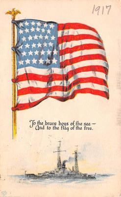 mil052110 - Military Battleship Postcard, Old Vintage Antique Military Ship Post Card
