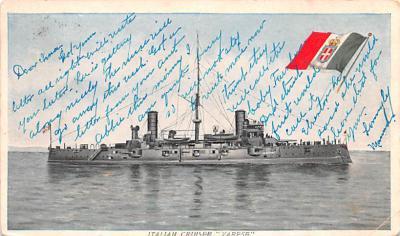 mil052122 - Military Battleship Postcard, Old Vintage Antique Military Ship Post Card