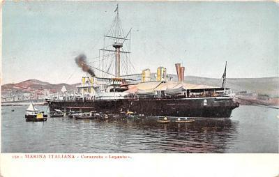 mil052125 - Military Battleship Postcard, Old Vintage Antique Military Ship Post Card