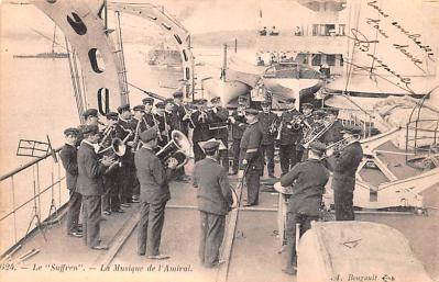 mil052132 - Military Battleship Postcard, Old Vintage Antique Military Ship Post Card