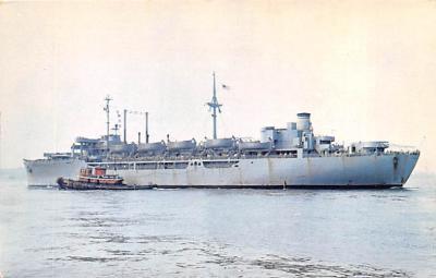 mil052160 - Military Battleship Postcard, Old Vintage Antique Military Ship Post Card