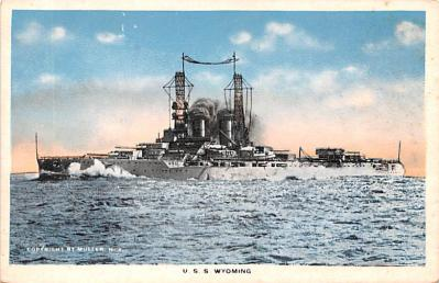 mil052167 - Military Battleship Postcard, Old Vintage Antique Military Ship Post Card