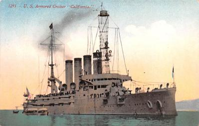mil052169 - Military Battleship Postcard, Old Vintage Antique Military Ship Post Card