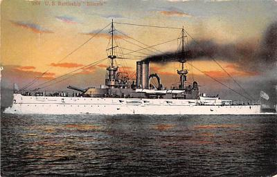 mil052172 - Military Battleship Postcard, Old Vintage Antique Military Ship Post Card