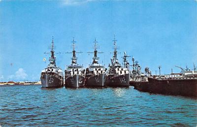 mil052182 - Military Battleship Postcard, Old Vintage Antique Military Ship Post Card
