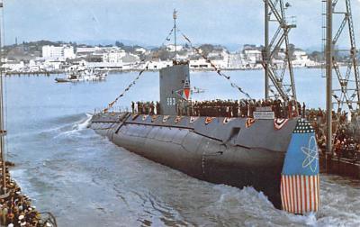 mil052196 - Military Battleship Postcard, Old Vintage Antique Military Ship Post Card