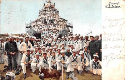 mil052198 - Military Battleship Postcard, Old Vintage Antique Military Ship Post Card