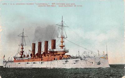 mil052199 - Military Battleship Postcard, Old Vintage Antique Military Ship Post Card