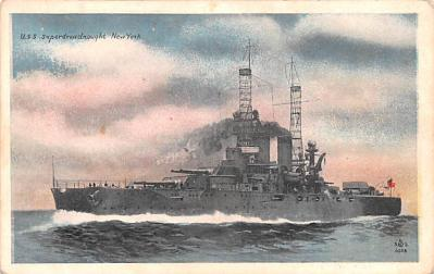 mil052203 - Military Battleship Postcard, Old Vintage Antique Military Ship Post Card
