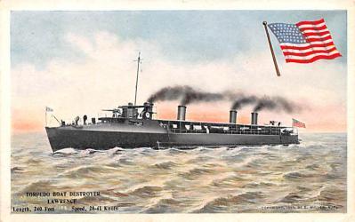 mil052205 - Military Battleship Postcard, Old Vintage Antique Military Ship Post Card