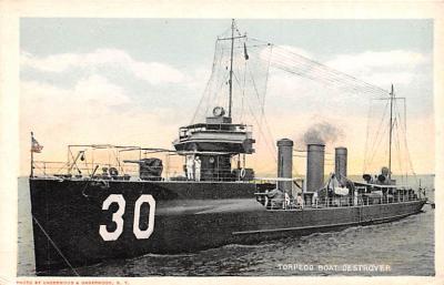 mil052214 - Military Battleship Postcard, Old Vintage Antique Military Ship Post Card