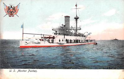 mil052218 - Military Battleship Postcard, Old Vintage Antique Military Ship Post Card